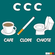 """la règle des """"3c"""" café clope caca"""